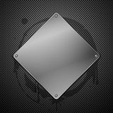 Metallic plaque for signage Royalty Free Stock Photos
