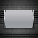 Metallic plaque for signage Stock Photos