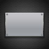 Metallic plaque for signage. Vector illustration Stock Photos