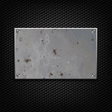 Metallic plaque. For signage against a dark background Stock Images