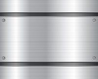 Metallic plate background 2 Stock Photos