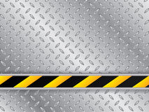 Metallic plate background with striped industrial line Stock Photography