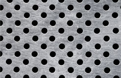 Metallic plate with full of holes Royalty Free Stock Photos