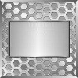 Metallic plate Royalty Free Stock Photo