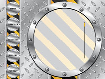 Metallic plate with web template Stock Image