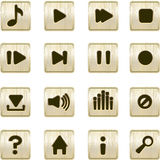Metallic player icons Royalty Free Stock Photos