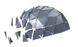 Metallic polyhedron Stock Image