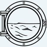 Metallic porthole Stock Images