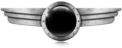 Metallic Porthole with Metal Wings Stock Photography