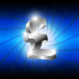 Metallic pound money icon Stock Image