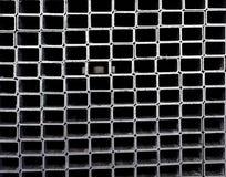 Metallic profiles. Bunch of square shaped metallic profiles Royalty Free Stock Image