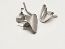 Metallic prosthesis teeth crown Royalty Free Stock Image