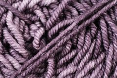 Metallic Purple Yarn Texture Close Up Stock Images
