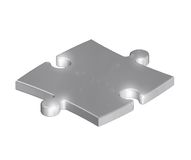 Metallic puzzle Royalty Free Stock Image