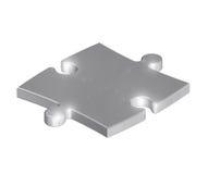Metallic puzzle royalty free stock image