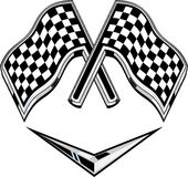 Metallic racing checkered flag Royalty Free Stock Photography