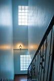 Metallic railings indoor Stock Photo