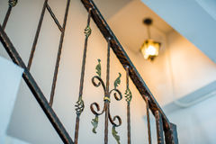 Metallic railings indoor Royalty Free Stock Photo