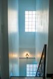 Metallic railings indoor Royalty Free Stock Photography