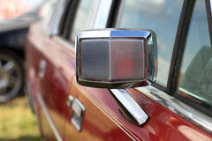 Metallic rear view mirror Royalty Free Stock Photos