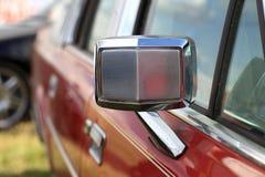 Metallic rear view mirror Royalty Free Stock Photos