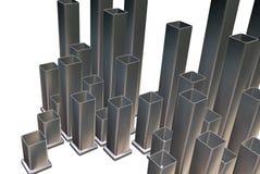 Metallic rectangles stock images