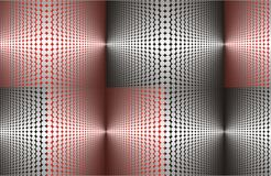 Metallic red and black. Pattern made from dots Royalty Free Stock Photography