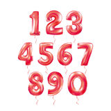 Metallic Red Letter Balloons 123. Metallic Red Letter Balloons, 123 golden numeral alphabeth. Pink Number Balloons, 1, Alphabet Letter Balloons, 2, Number stock illustration
