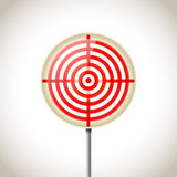 Metallic red target Royalty Free Stock Photo