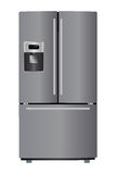 Metallic refrigerator Royalty Free Stock Image