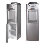 Metallic refrigerator with water dispenser Stock Photo