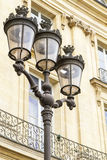Metallic retro lamppost in Paris, France Royalty Free Stock Photos