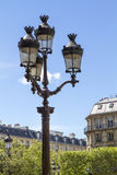Metallic retro lamppost in Paris, France Royalty Free Stock Image