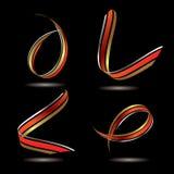 Metallic ribbon Stock Photography