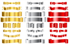 Metallic Ribbons Stock Images