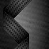 Metallic ribbons on gray corduroy background. Vector 10eps Stock Photography
