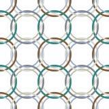 Metallic rings mesh Royalty Free Stock Photos