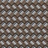 Metallic rings pattern stock images
