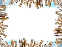 Metallic rods frame Stock Image