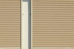 Metallic roller shutter door Stock Photography