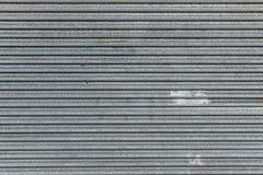 Metallic roller shutter texture Royalty Free Stock Photo