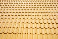Metallic roof Stock Image