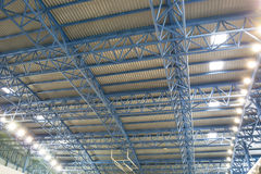 Metallic roof structure Royalty Free Stock Images