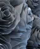 Metallic roses. Close up view Stock Photos
