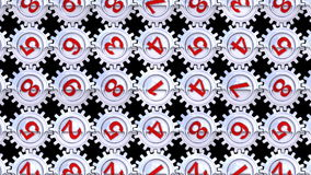 Metallic rotating gears. From gear series. All numbers forming a loopable background (last 160 frames). Easy to keying (key out color 000000). Seamless loop stock footage