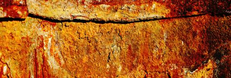 Metallic rusty background with old paint shabby and scratched with corrosion Royalty Free Stock Photo