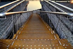 Metallic rusty stairway Royalty Free Stock Images