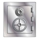 Metallic safe for storage of valuables. Stock Photos