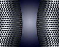 Metallic Screens With Holes. Metallic pieces with holes with light and shadows Stock Images