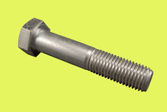Metallic screw-bolt Royalty Free Stock Image